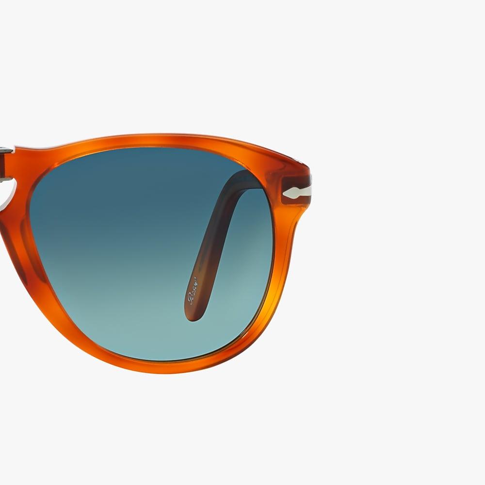 Sunglasses PO0714SM Light Havana Polarized Blue Gradient