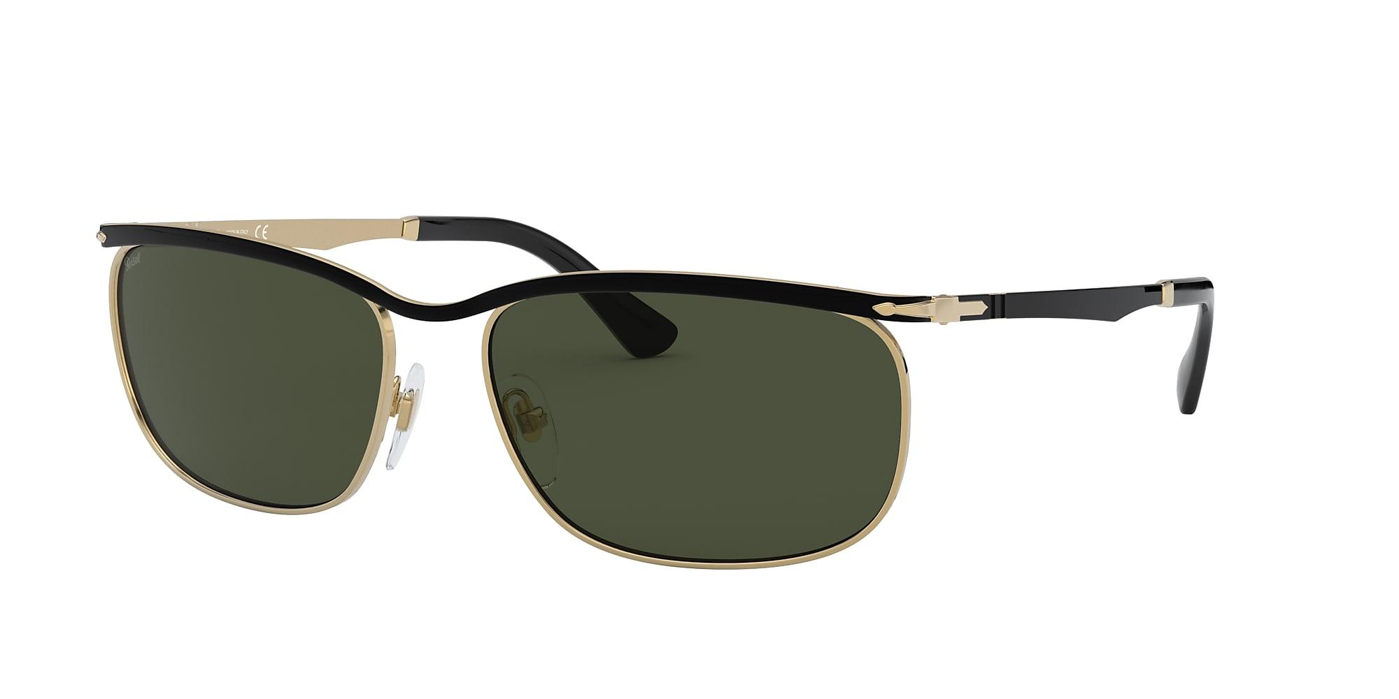 sonnenbrille herren klassiker grünes glas metallrahmen square